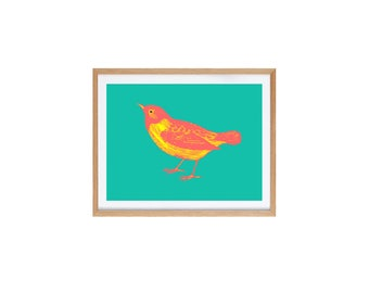 Bird Illustration Giclee print 21 x 29.7 cm