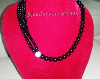 Black Onyx Neck Piece
