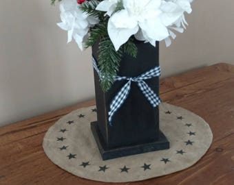 Flower Vase, Country Flower Vase, Primitive Decor