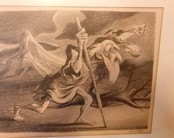 Vintage Limited edition signed William Gropper lithograph