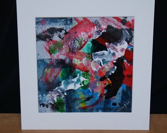 Original Abstract Painting (Abstract Expressionist) - Acrylic on Tyvek - Untitled 6