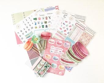 Limited Edition Premium Sticker Box Set / Macaron Madness / Erin Condren Planner Stickers / Planner Clips / Planner Die Cuts / PK-1