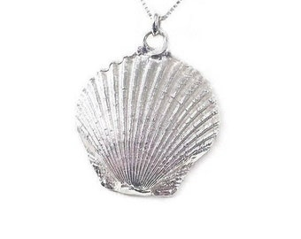 Seashell Necklace Ocean Jewelry Scallop Fan Shell Necklace Camino De Santiago Pilgrimage Sea Shell Jewelry Mother's Day Trending Jewelry