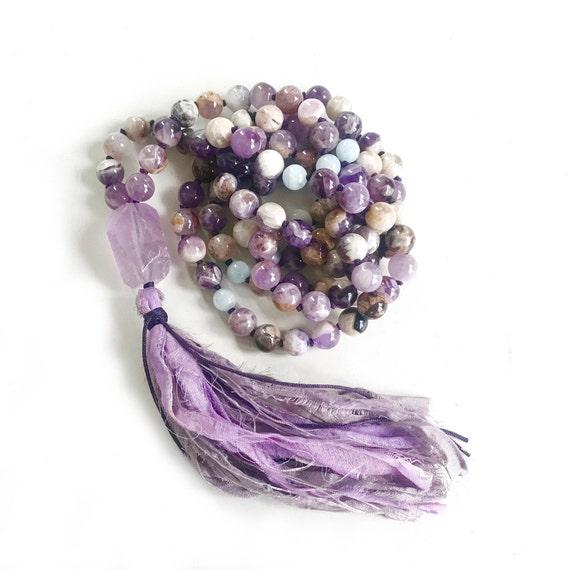Amethyst Mala Beads, Calm An Active Mind Mala, Mala Beads 108, Reduce Stress Mala, Meditation Mala Beads, Mala Beads Necklace, Yoga Mala