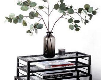 Artificial Baby Eucalyptus Spray Branch / Faux Eucalyptus Twig for Floral Arrangement Centerpieces / Fake Plants Stems