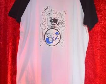 Vintage 1996 Blink 182 Raglan Sleeve Baseball t-shirt