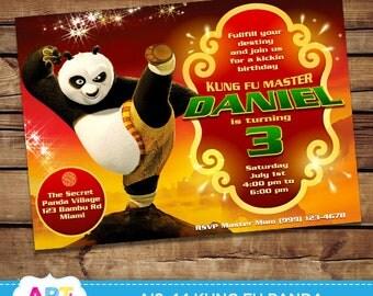 Kung Fu Panda Invite, Kung Fu Panda Birthday Invitation, Digital Printable Party Invite, Personalized Printable Card for Boys - AIS-44