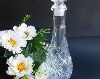Vintage Glass Decanter,Whiskey Decanter, Liquor Decanter,Carafe,Kithcen Decor