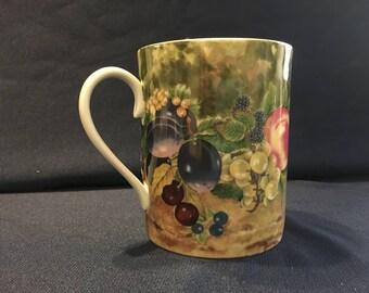 """Rochard, Limoges """"Still Life"""" Mug"""