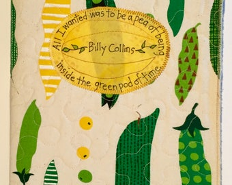 Billy Collins-inspired fabric covered journal