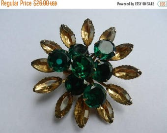 Summer Sale Vintage Large costume jewelry flower brooch
