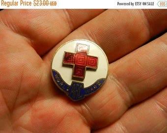Summer Sale Vintage WW2 US American Red Cross  Badge Pin