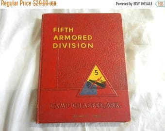 Easter Sale Vintage 1956 5th Armored Division Unit History Book