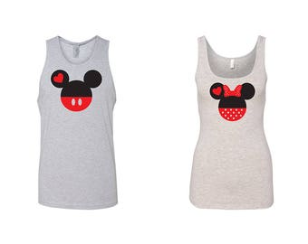 He is Mine She is Mine Couple Tank For Her For Him share your love Valentine's Day Gifts