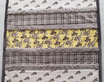 Handmade Baby Quilt, Modern Baby Quilt, Homemade Baby Quilt, Modern Crib Quilt, Yellow and Gray, Gender Neutral, Baby Quilt For Sale