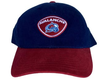 Vintage Colorado Avalanche Snapback Hat by Annco Rare NHL 90s Youth Size Blue