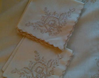 Handmade cotton linen napkins