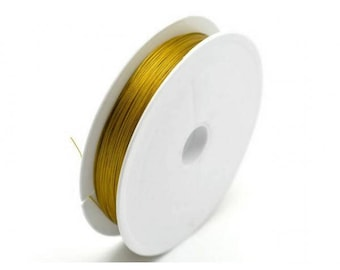 10 meters wire Crinelle gold 0.38 mm