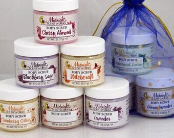 Sugar Scrub Gift Set - Choose 3 - Body Scrub - Teacher Gifts - Birthday Gifts - Scrub Sample Set - Gift for Her - Gifts Under 10 - Bulk Gift