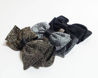 Handmade Glittering Bow French Hair Barrettes Big Bow Women Hair accessory