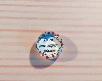 Nice glass cabochon 12 mm - you're a great Grandma