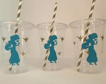 Aladdin party cups, Jasmine party cups, Arabian Nights party