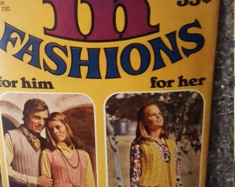 Vintage 1970s Knit and Crochet Pattern Booklet American Thread Star Book No. 230