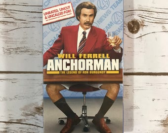 Anchorman VHS Tape - Legend of Ron Burgundy - Will Ferrell Movie - New / Factory Sealed - Comedy - VCR Video - Gift