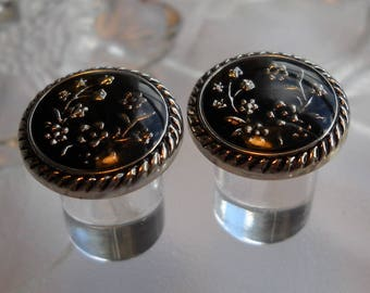 0g Plug, 00g Plug, 0 Gauge, 00 Gauge, 1/2 inch, Black and Silver Plug
