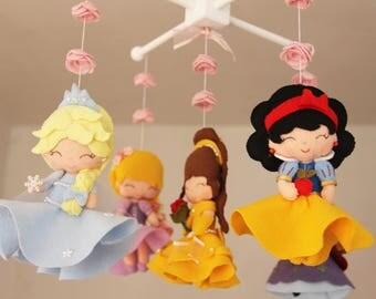 Les petitesshop loved by 250 etsy shoppers handmade hunt for Princess crib mobile