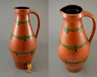 Vintage floor vase / Bay / 24750 | 60s | West German Pottery