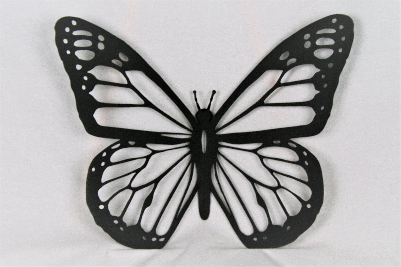 Black Metal Monarch, Butterfly Wall Art, Metal Butterfly, Monarch Wall Art,  Butterfly Decor, Butterfly Garden, Monarch Butterfly