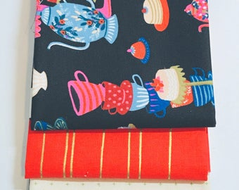 Fat Quarter Bundle Wonderland by Rifle Paper Co. for Cotton and Steel- 3 Fabrics