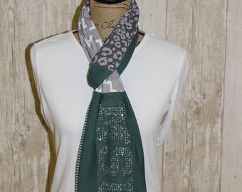Michigan State University Spartans MSU  t-shirt scarf Bling