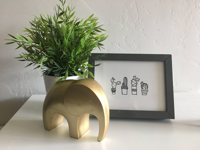 DIGITAL DOWNLOAD modern cactus print Hand drawn cactus art Cactus