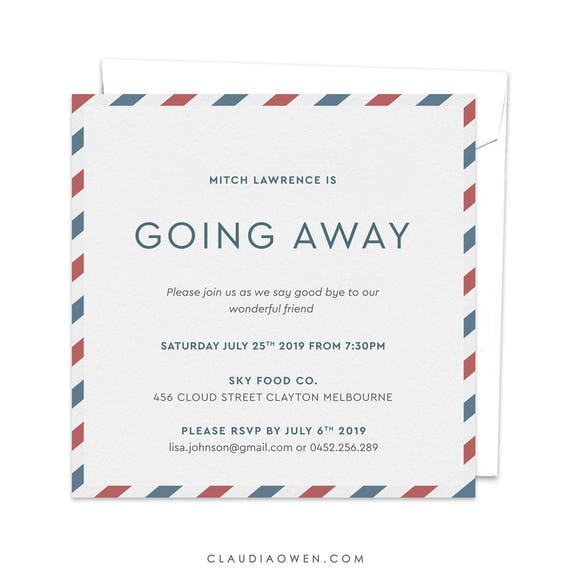 Going away party goodbye party invitation leaving party like this item stopboris Image collections