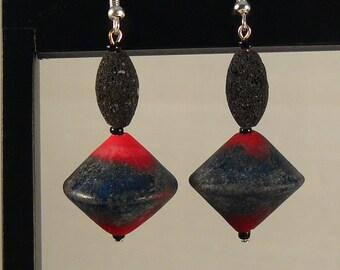Red Hot Lava Earrings