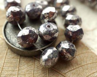 Purple Mercury, Rondelle Beads, Premium Czech Beads, Beads, N1696