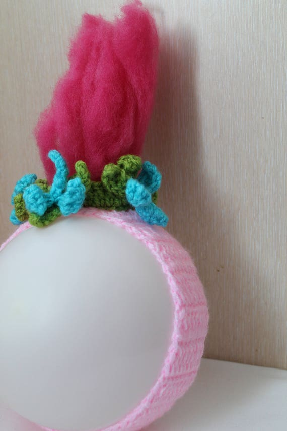 Trolls Knitting Or Crocheting Patterns : Pattern troll headband princess poppy crochet