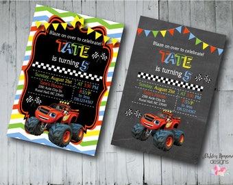 Blaze & the Monster Machines Birthday Invitation, Blaze Invitation, Printable/Digital