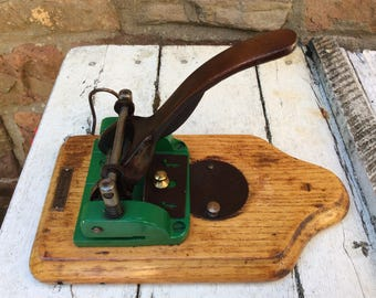 Beautifully solid and engineered Vintage Stolzenberg Hole Punch.