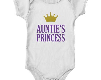 Auntie's Princess Baby Girl Onesie