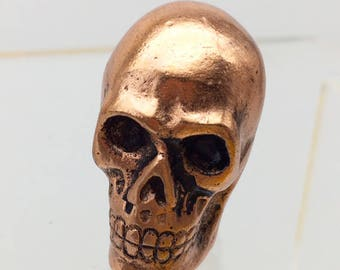 Copper Tone Metal Skull Drawer Cabinet Knob DIY Projects