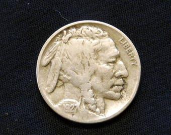 1927 D Buffalo Nickel  - FINE -  1927    *TF0209D50*