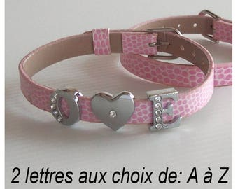 Bracelet personalized with letter