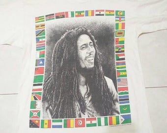 ON SALE 15% OFF Vintage 1996 Bob Marley shirt made in Jamaica