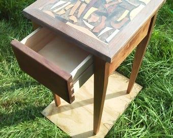 Scrap Wood Night Stand