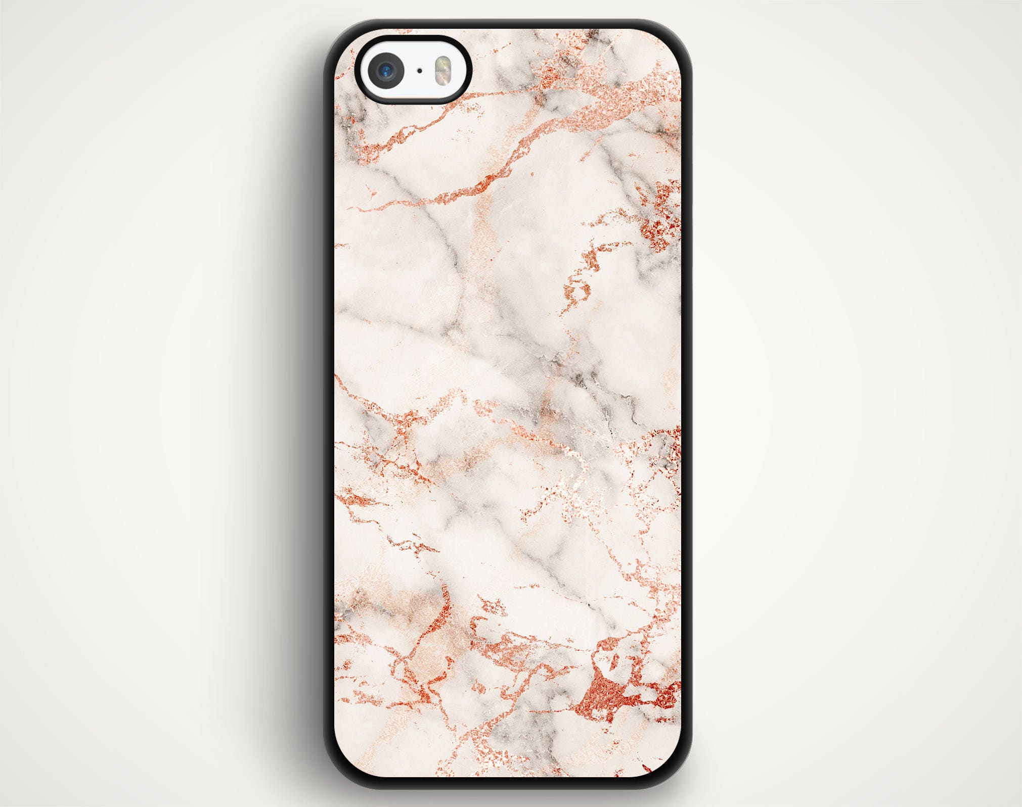 Rose Gold Marble Case For Iphone 7 Iphone 6s Iphone Se Iphone 5s