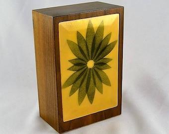 Annemarie Davidson Bookend - Walnut w/ Enameled Copper - Mid-Century Modern - Modernist