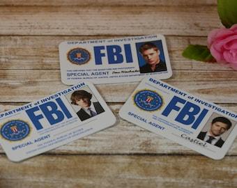 Supernatural Inspired FBI card, Sam, Dean, Castiel, Supernatural cosplay